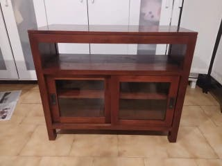 Mueble de TV de teca