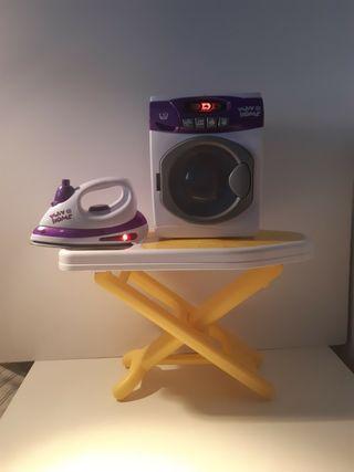 Juguete plancha y lavadora