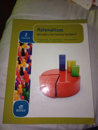 libro matemáticas 2°Bachillerato Ciencias Sociales