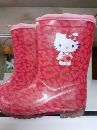 Botas agua Hello Kitty T.30
