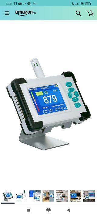 medidor detector de dióxido de carbono