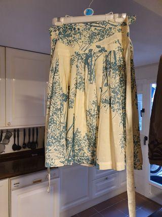 Falda algodón estampada