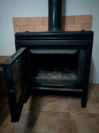 chimenea de hierro fundido