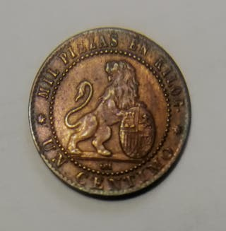 1 céntimo Gob. Prov. 1870