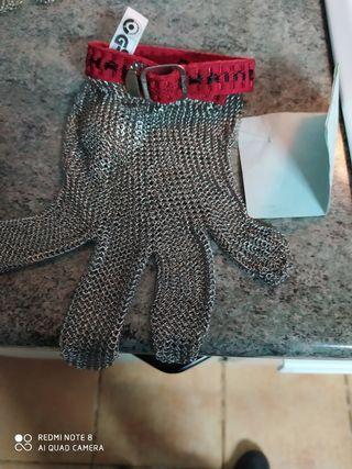 guante carnicero de acero