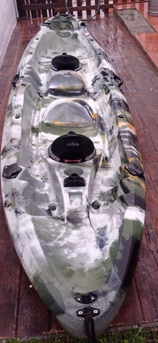kayak doble 2 + 1 niño