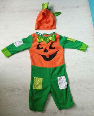 Disfraz de bebé de calabaza de Halloween