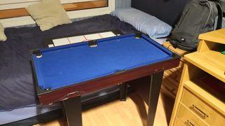 Mini mesa de Billar, Ping Pong y Air Hockey