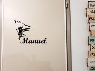 Nombre decorativos personalizados vinilo.