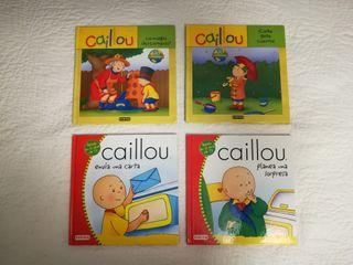 Lote 4 Libros infantil de Caillou.