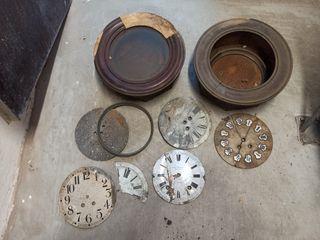 lote restos de reloj antiguo