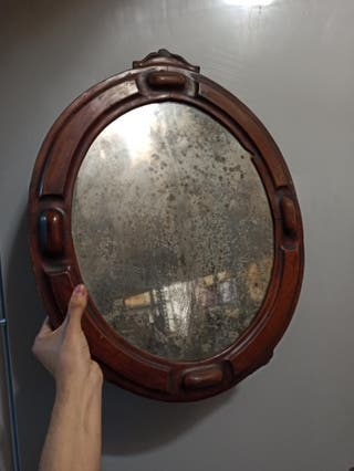 antiguo espejo de siglo XIX original