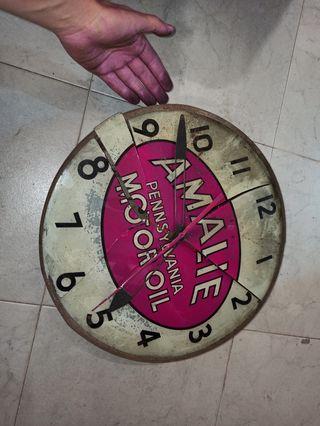 antiguo reloj de publicidad amalie motor oil