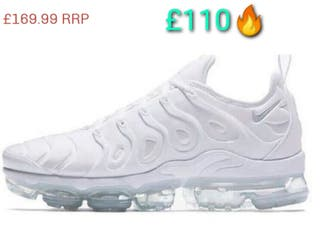 Nike Vapormax Plus White | SALE £65 | UK 9