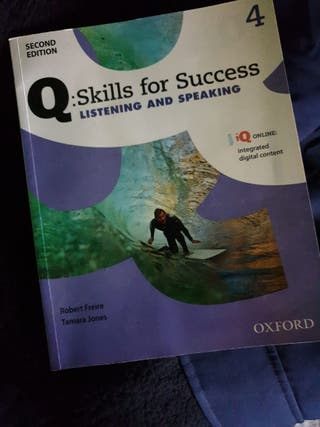 libro de inglés: Q Skills for success. Oxford
