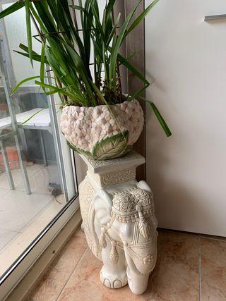 Elefante de la suerte ceramica
