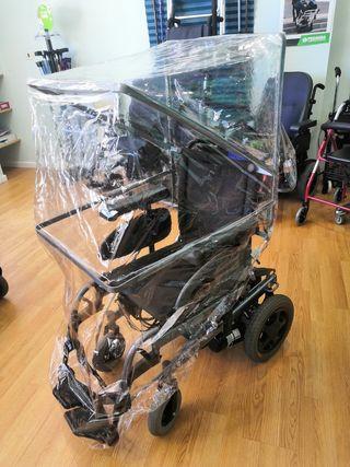 Capota chubasquero para silla de ruedas