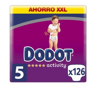 4 paquetes de Dodot activity, talla 5 (11-16kg)