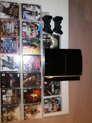 PS3 más 17 videojuegos