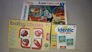 Lote juegos infantiles Educa + regalo puzzle