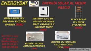 BATERÍAS Y ENERGÍA SOLAR AL MEJOR PRECIO
