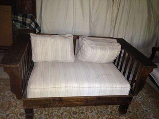 Sofá cama antiguo madera de roble