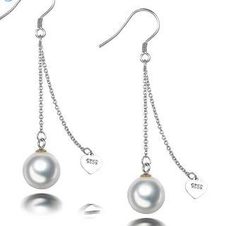 925 S.S Seashell Pearl Dangle Earrings