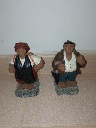 Figuras decorativas de barro