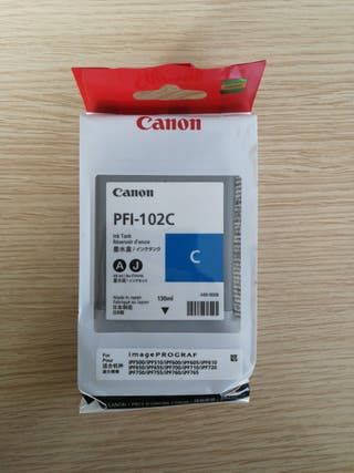 Cartucho tinta plotter Canon PFI-102C
