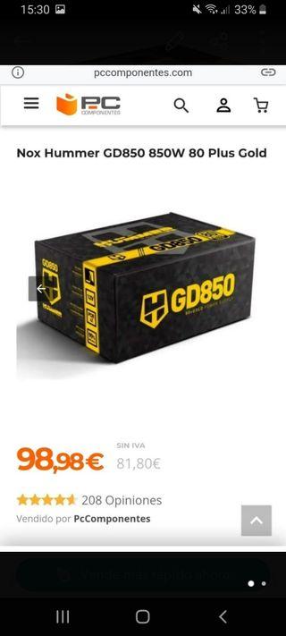 Fuente alimentación 850w GOLD