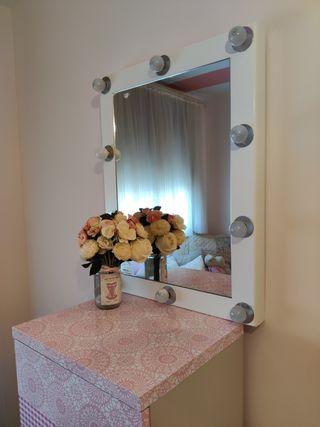 Espejo tocador 60×80cm (10 luces) Maison du monde