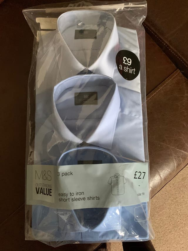 Brand new with tags men's M&S x3 shirts