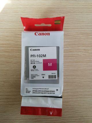 Cartucho tinta plotter Canon PFI-102M