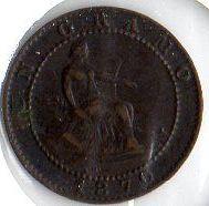Moneda 1 Céntimo Gobierno Provisional 1870