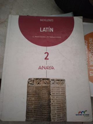 libro latín segundo de bachillerato ANAYA