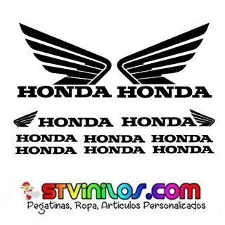 pliego honda sticker para moto casco