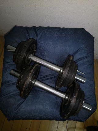 Mancuernas 12 kg pesas