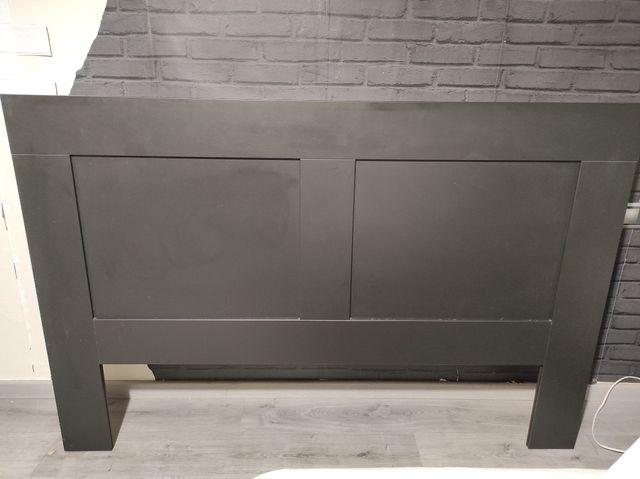 Cabecero negro Brimnes Ikea