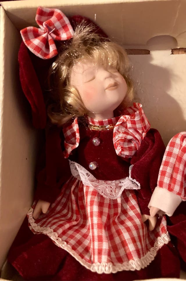Pareja muñecos porcelana