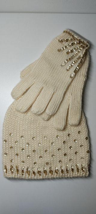 Conjunto de gorro y guantes