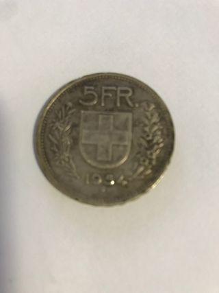 Moneda 5 francos suizos