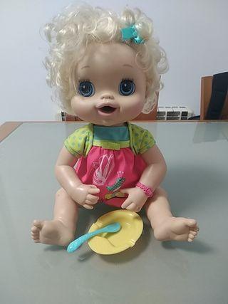 Muñeca Baby Alive hora de comer