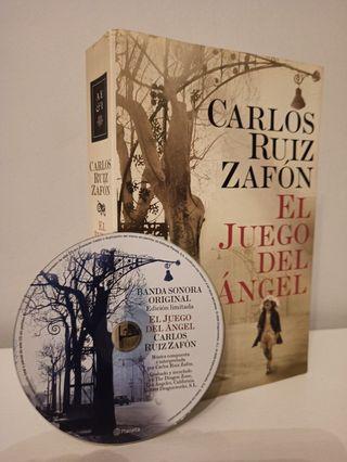 Libro El juego de ángel,Carlos Ruíz Zafón y CD