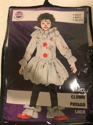 Disfraz Halloween Payaso IT 10-12 años