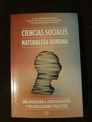 Libro Ciencias Sociales y Naturaleza Humana