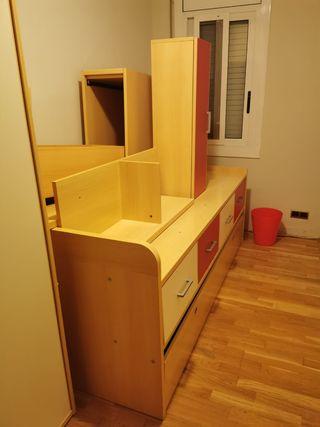 habitación completa con armario