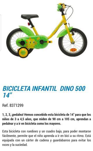 "Bicicleta Btwin Dino 14"""