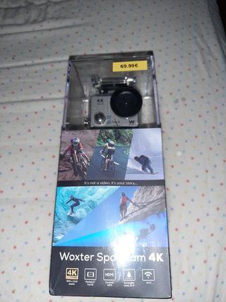 cámara 4k acuática