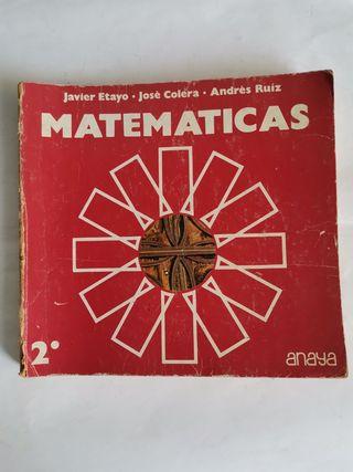 Matemáticas 2 Bachillerato Anaya