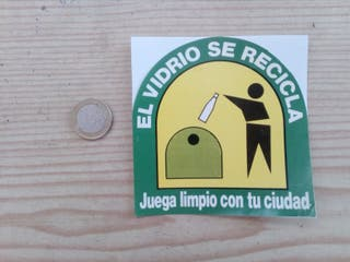 Pegatina Adhesivo El Vidrio Se Recicla